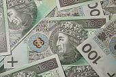 One hundred polish zloty money poster
