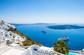 stock photo of greek-architecture  - White architecture on Santorini island Greece - JPG