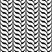 stock photo of uncolored  - Design seamless monochrome interlaced pattern - JPG