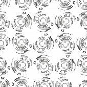 stock photo of node  - Dotted seamless pattern with circles and nodes - JPG