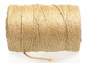 stock photo of hasp  - Roll of twine cord isolated on white background - JPG