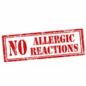 stock photo of reaction  - Grunge rubber stamp with text No Allergic Reactions - JPG