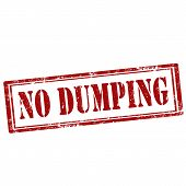 picture of dump  - Grunge rubber stamp with text No Dumping - JPG