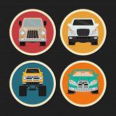 image of monster-truck  - Vehicle design over white background - JPG