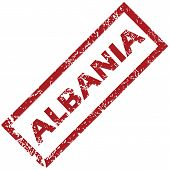 pic of albania  - New Albania grunge rubber stamp on a white background - JPG