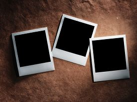 picture of polaroid  - polaroid style photo frames on the very vintage paper - JPG