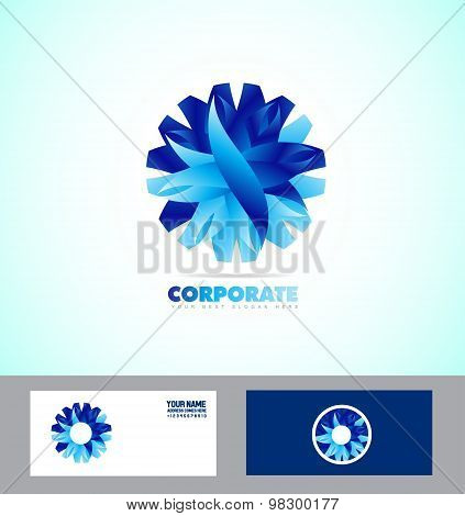 Corporate Business Abstract Flower Logo Icon Set