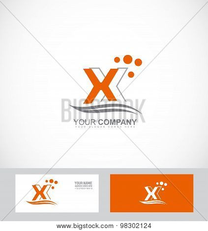 Letter X Orange Logo
