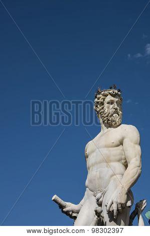 Neptune Statue In Piazza Della Signoria, Florence