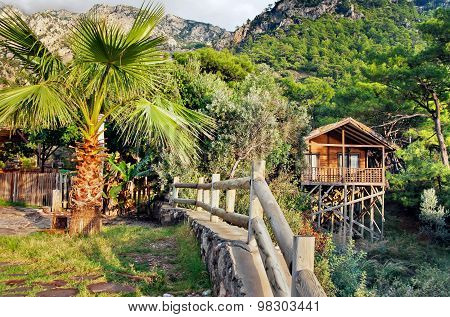 Bungalow on a resort on Kabak beach, Turkey