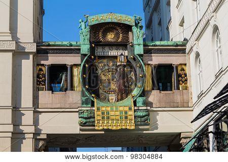 Ankeruhr Clock In Vienna