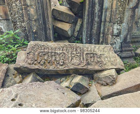 Angkor woman bas-relief, Cambodia