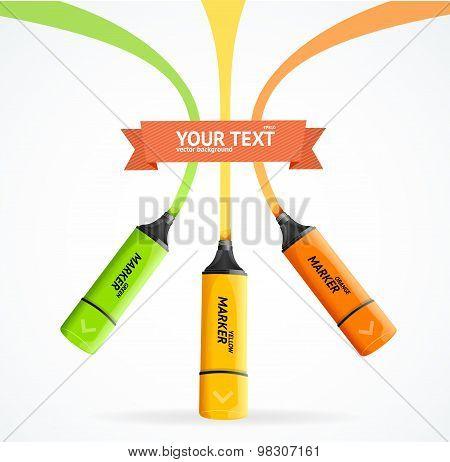 Marker highlighter concept. Vector