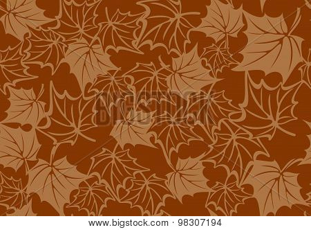 Seamless pattern with autumn maple leaves. Vector illustration.