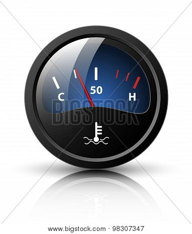 Motor Temperature Gauge Icon