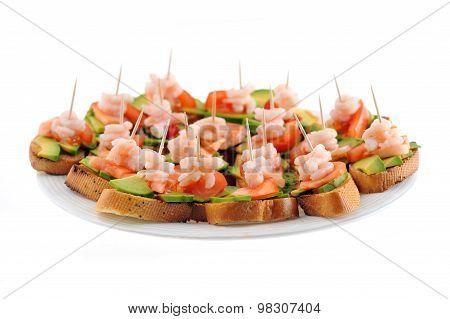 Sandwiches  With Shrimps