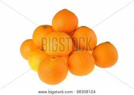 Tangerines  On White