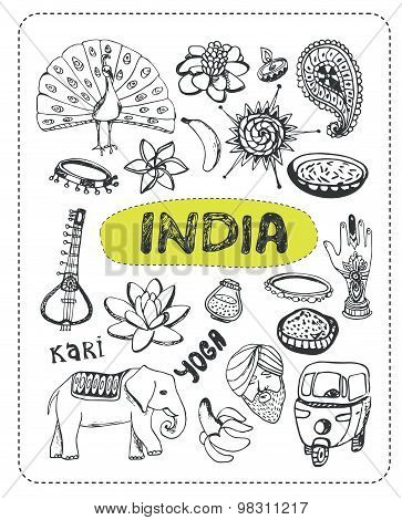 Doodle about India.
