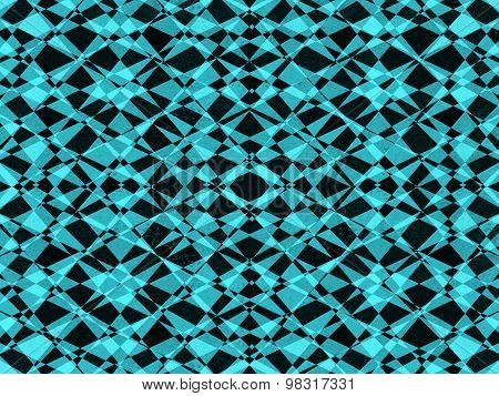 Black And Blue Kaleidoscope Pattern