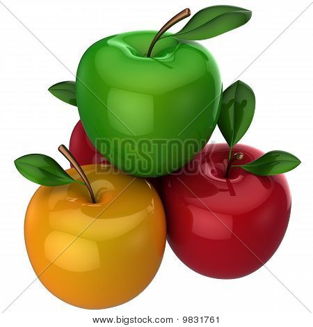 Apples multicolored. Fresh fruits