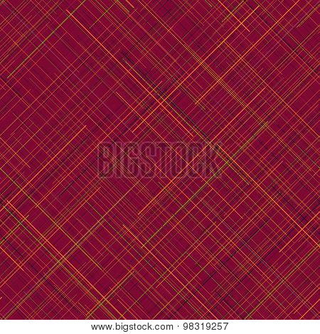 Warm seamless pattern. Random lines. Vibrant colors. Plaid abstract texture.