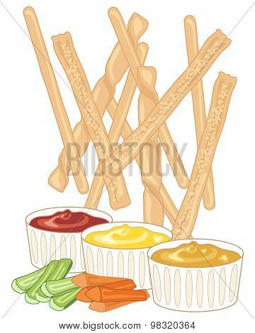 Breadsticks And Dips