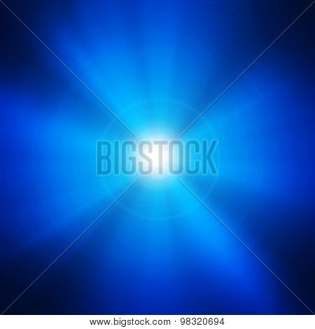 blue metal with light background