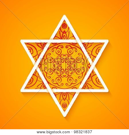Star Of David With Decorative Pattern