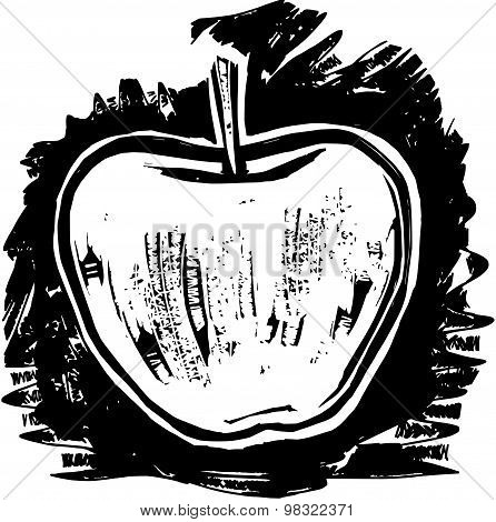 Woodcut Apple