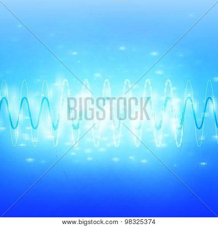 Bright Sound Waves Background