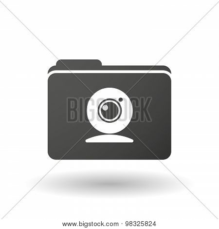 Isolated Folder Icon With A Web Cam