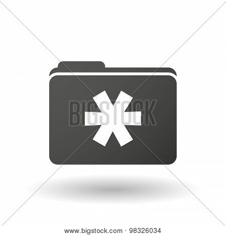 Isolated Folder Icon With An Asterisk