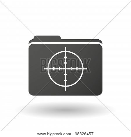 Isolated Folder Icon With A Crosshair