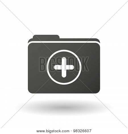 Isolated Folder Icon With A Sum Sign