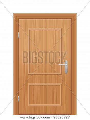 Wooden Room Door Closed