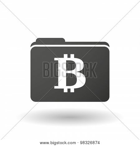 Isolated Folder Icon With A Bit Coin Sign