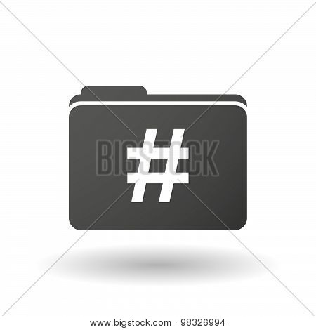 Isolated Folder Icon With A Hash Tag