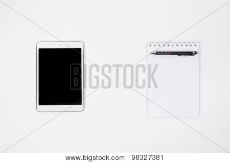 Top View Tablet Paper Book