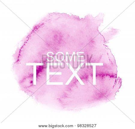 Vector watercolor pink background