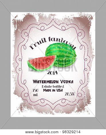 Vintage fruit alcohol labels.
