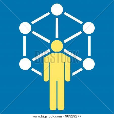 Network icon from Business Bicolor Set