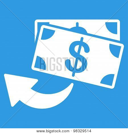Cashback Flat Icon From Business Bicolor Set