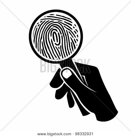 Fingerprint Under Loupe