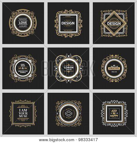 Monogram  luxury logo  template