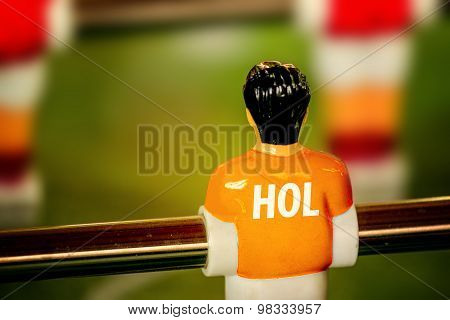 Holland National Jersey On Vintage Foosball, Table Soccer Game