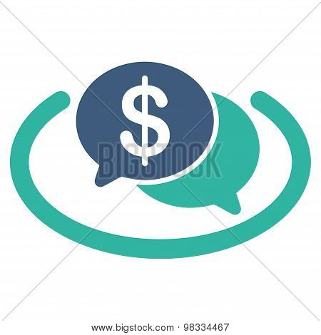 Financial Network icon from Business Bicolor Set