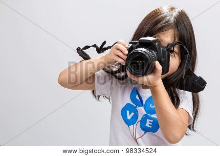 Little Girl Camera / Little Girl Holding Camera Background