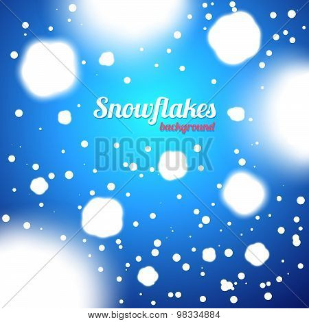 Snowflakes Blue Background