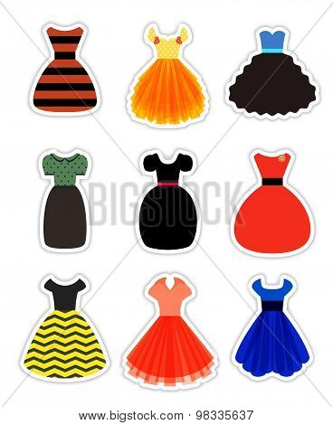 Retro Fashion Dresses Set
