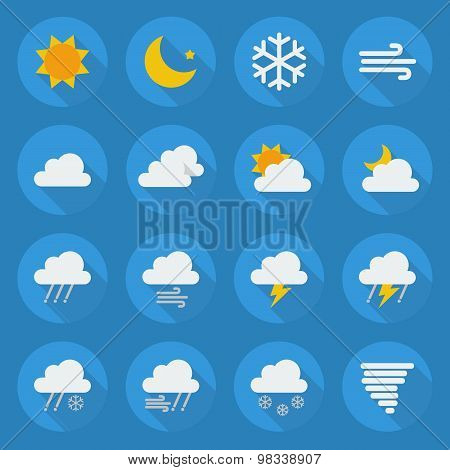 Weather Flat Icon Set